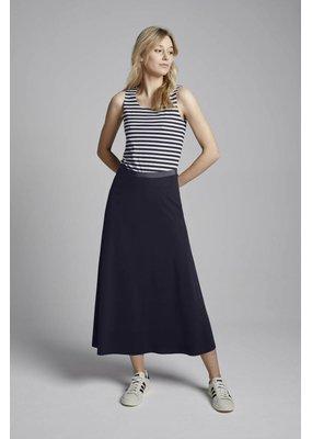 Travel Dress Flair Skirt Ink Blue
