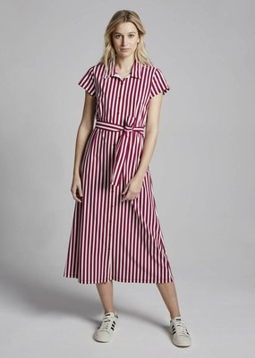 Travel Dress Stripe Long Shirt Dress Masai Red
