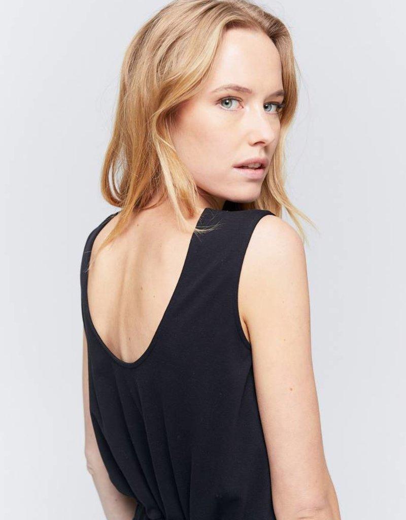 Zenggi Pique Draw String Sadie Dress Black