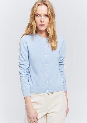 Zenggi Fine Cotton Cardigan Eton Blue