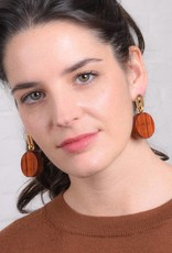 Studio Collect earrings with bayong wood disks Goldplated