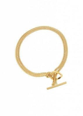 Studio Collect Fine t-lock bracelet gold