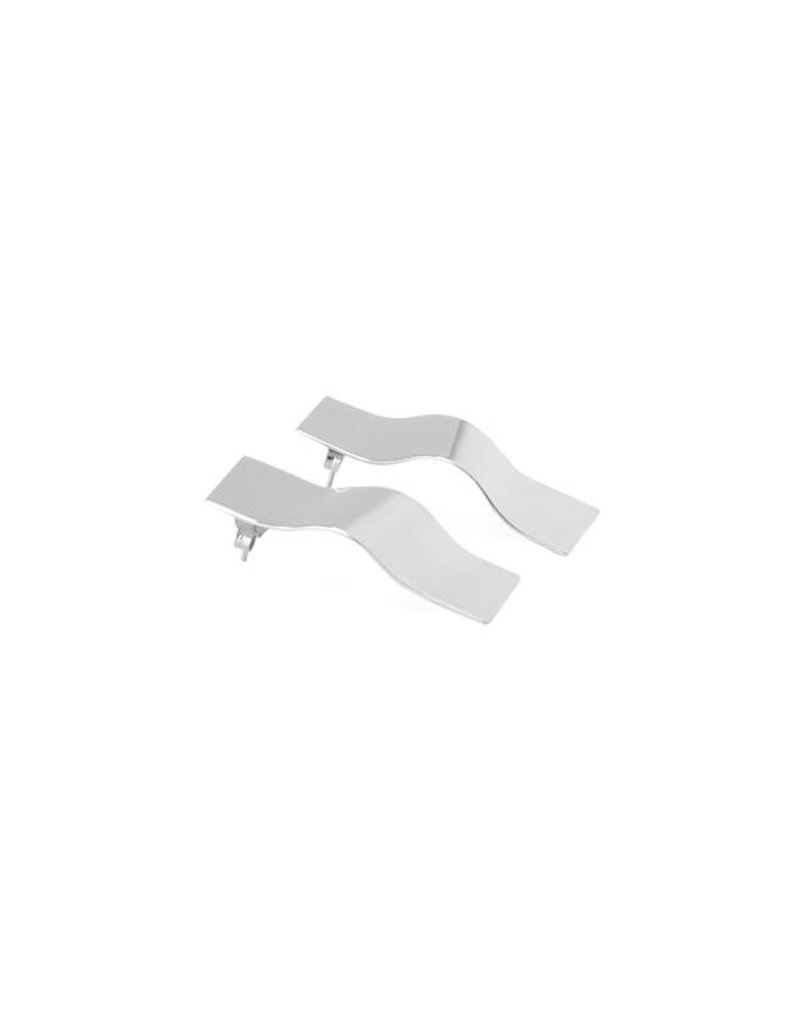 Earrings curled plane silver Large