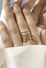 Nuuk Ring raster goud
