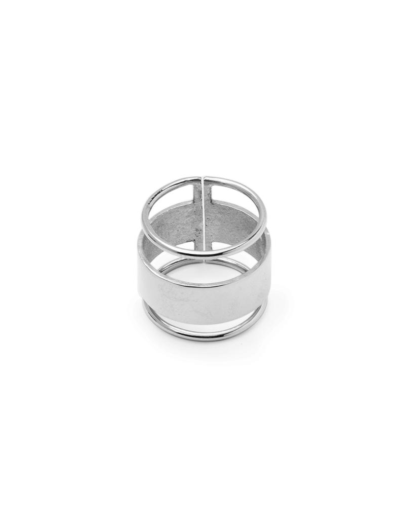 Nuuk Ring breed met 2 strepen