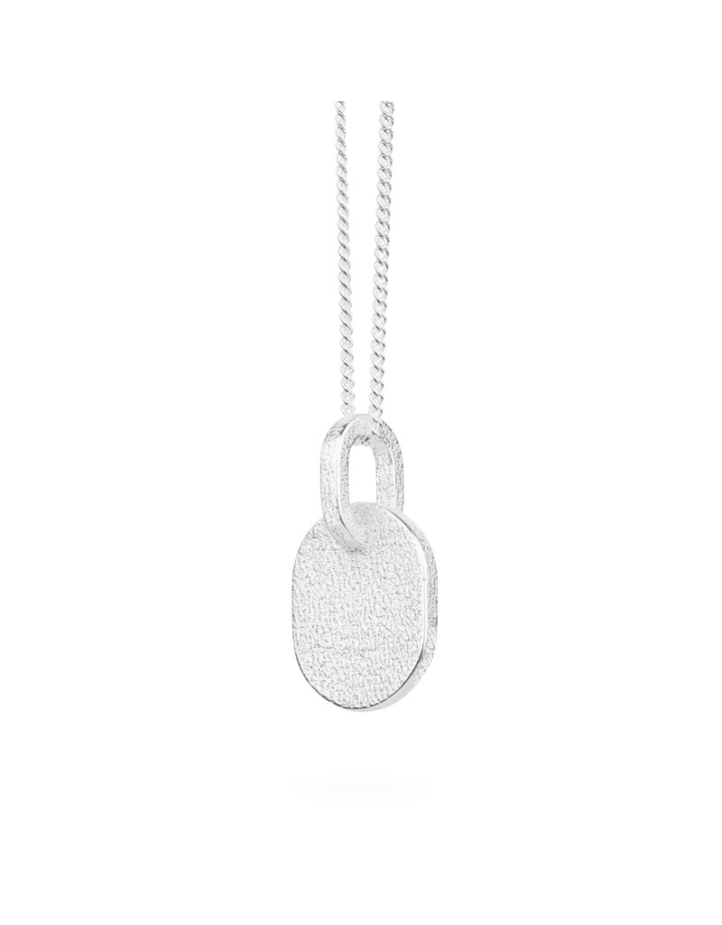 Ola Necklace minimal solid long silver