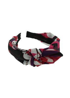 Haarband Paars/Roze bloemen