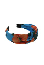 Hairband blue red flowers