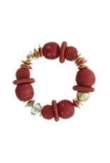 Armband rode kralen