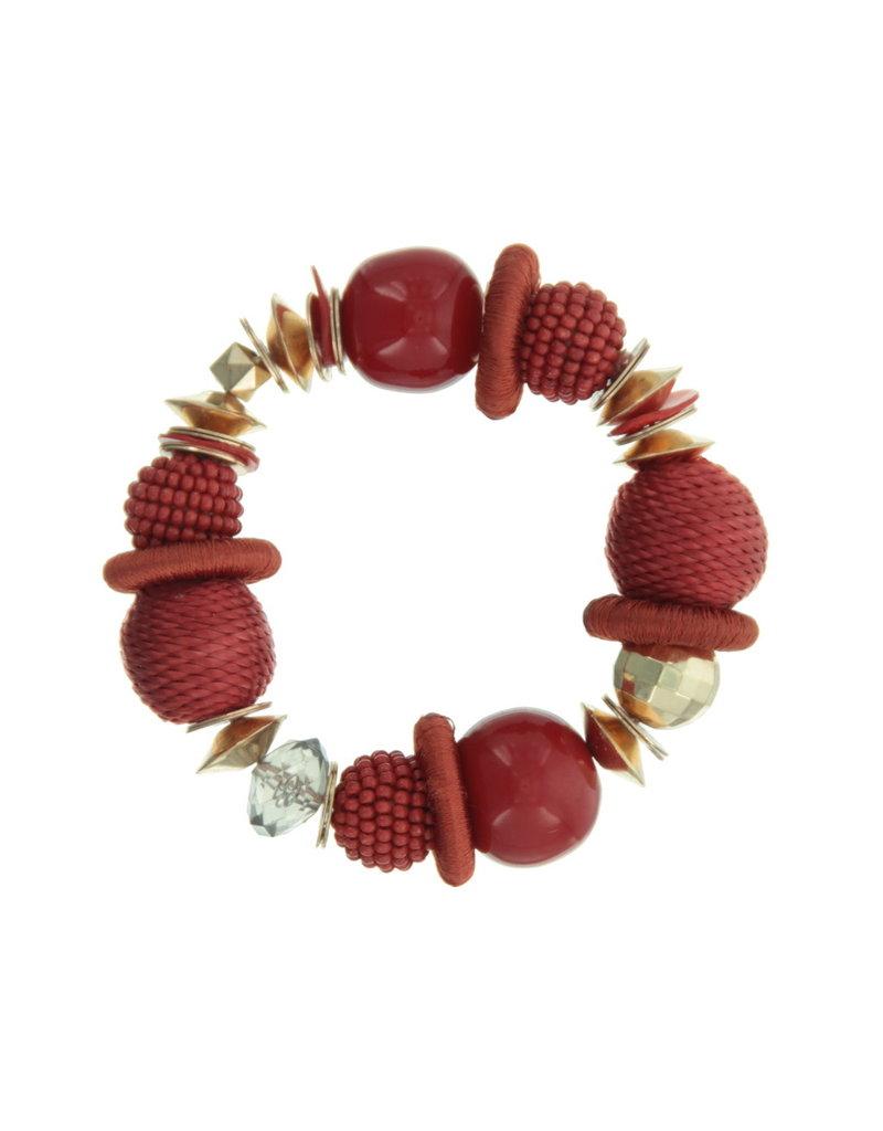 Bracelet red beads
