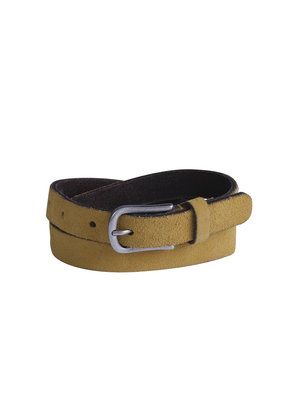 Belt leather yellow