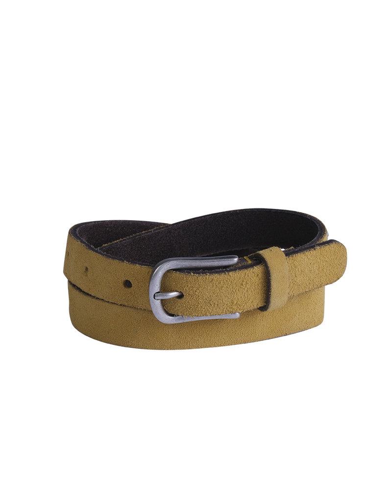 Belt leather yellow
