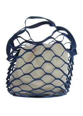 Handtas Net Blauw