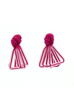 Ann Cox Oorbellen Blossom Roze