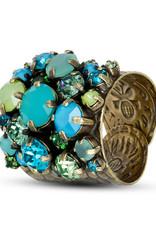 Konplott Ring Ballroom Blue/green Antique brass