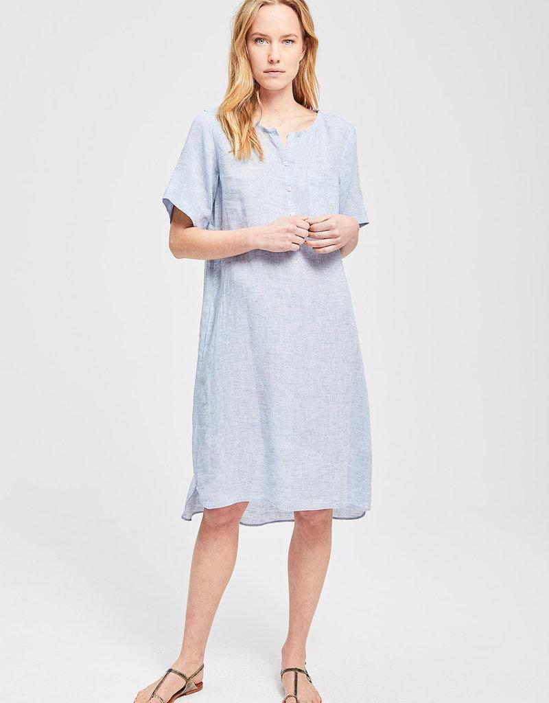 Zenggi Linen Jules Dress Eton Blue