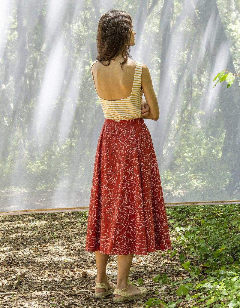 Suite13 Eyva Skirt Print Tandori Spice