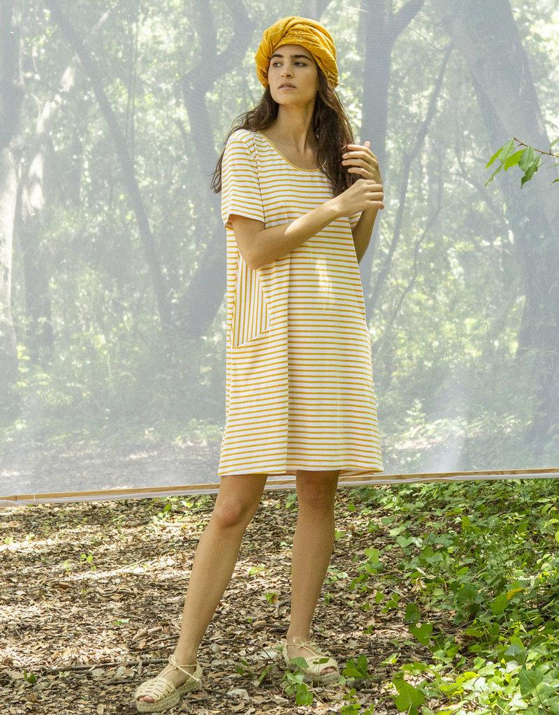 Suite13 Raina Dress Stripes Beeswax