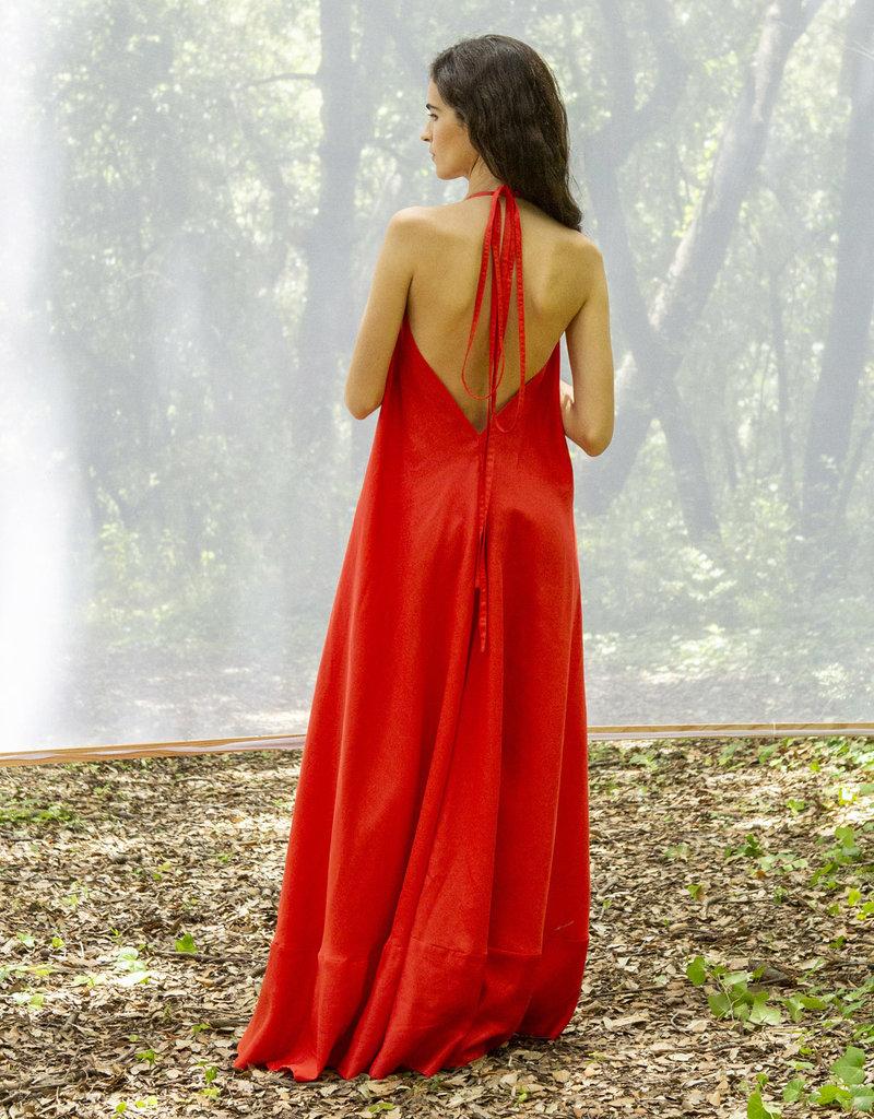 Suite13 Daphne Long Tencel Poppy Red