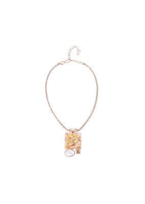 Philippe Ferrandis Necklace Short different stones white / gold glitter