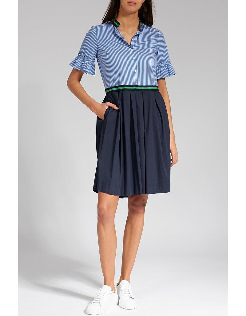 La Camicia Jurk katoen blauw gestreete top en blauwe rok