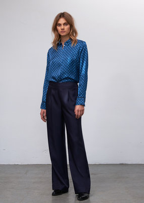 Zenggi Wide Leg Dawn Pants Midnight Blue