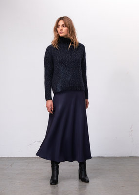 Zenggi LIGHT WEIGHT ROLL NECK KNIT MIDNIGHT BLUE