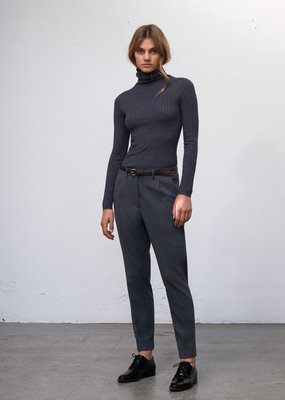 Zenggi ROLLNECK RIB KNIT CASHMERE MIX GREY