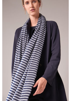 Travel Dress STRIPED WRAP SOFT BLUE