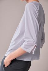 Travel Dress STRAIGHT PLEAT TOP ZIP STRIPE STEEL GREY