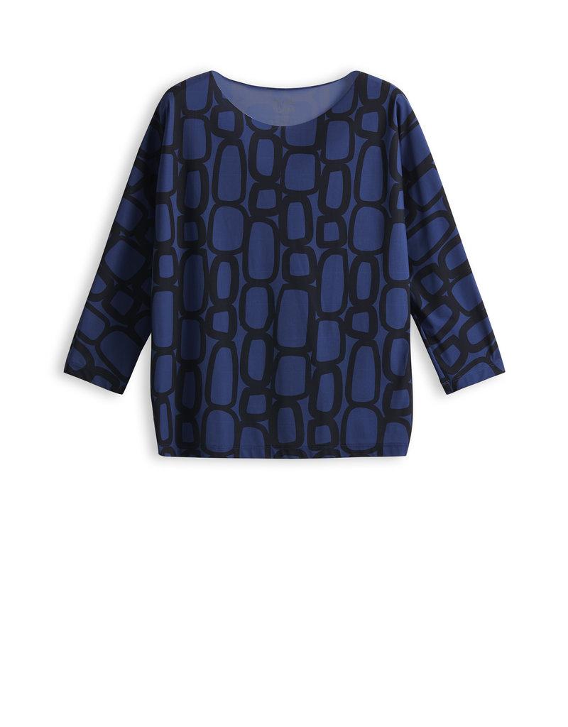 Travel Dress LOOSE TOP CHAIN PRINT DEEP BLUE