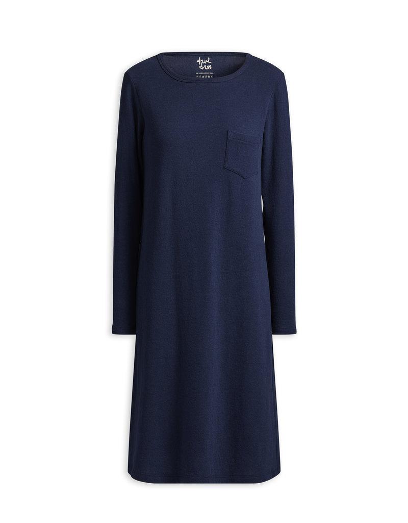 Travel Dress LONG SLEEVE TEE DRESS SOFT BLUE
