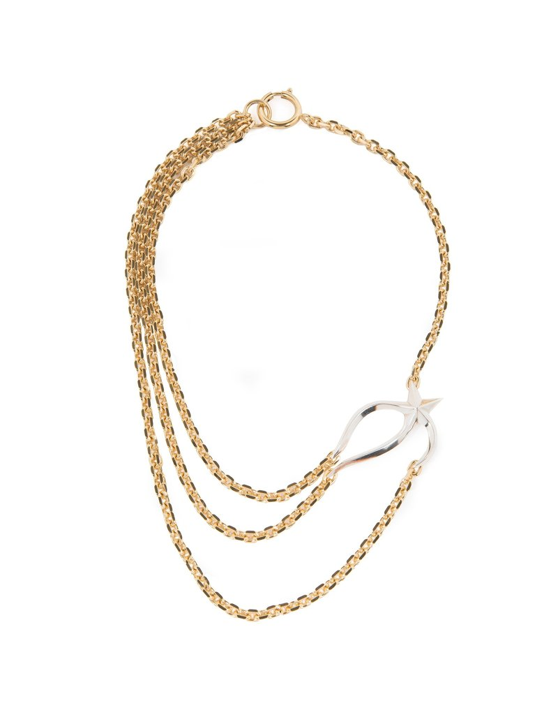 Wouters & Hendrix STATEMENT NECKLACE WITH CHAINS AND MELTING STAR