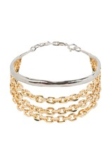 Wouters & Hendrix STATEMENT BRACELET WITH BANGLE AND CHUNKY CHAINS