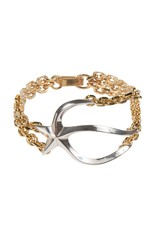 Wouters & Hendrix STATEMENT BRACELET WITH MELTING STAR AND CHAINS
