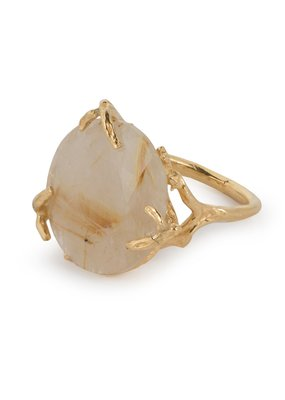Wouters & Hendrix STATEMENT RING CLASPING GOLDEN RUTILATED QUARTZ