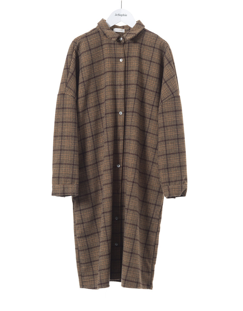 JcSophie Azra Tunic Brown Ckeck