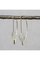 Jéh Jewels Earrings gold with rough labradoriet