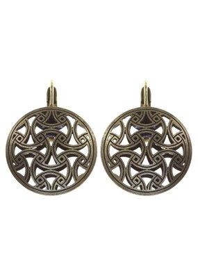 Konplott earring eurowire Shades of Light white size XS antique