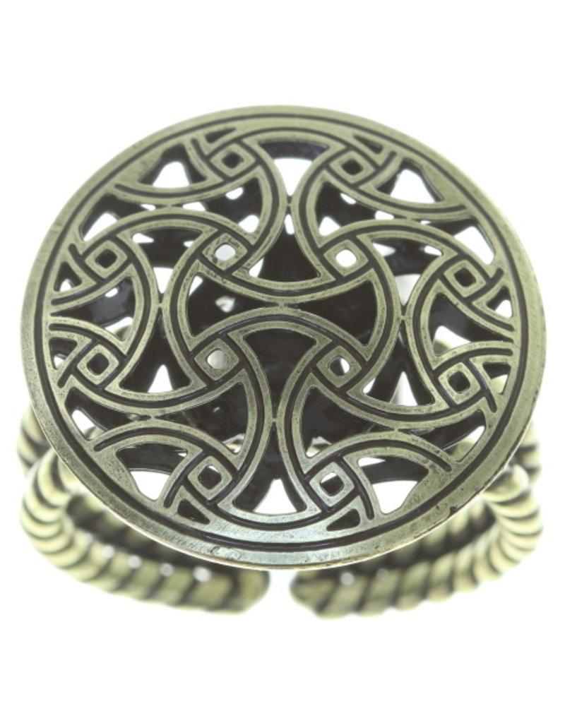 Konplott ring Shades of Light white size XS antique brass