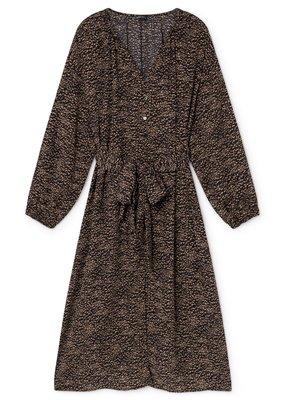Skatië Long Dress with oversized sash black