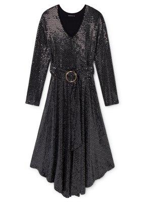 Skatië Sweater Dress with long sleeve black