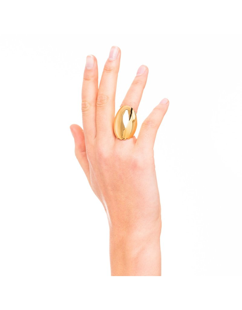 Wouters & Hendrix STATEMENT RING WITH CURVED EDGE