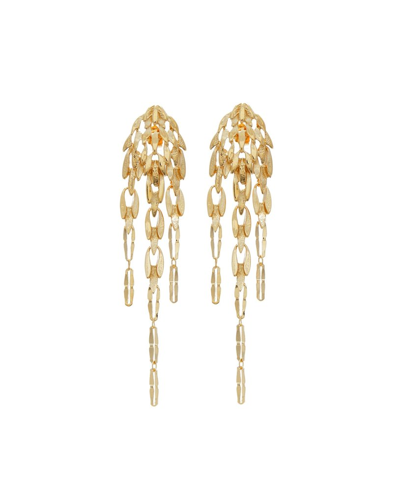 Wouters & Hendrix ELEGANT STUD EARRINGS REMINISCENT OF FEATHER