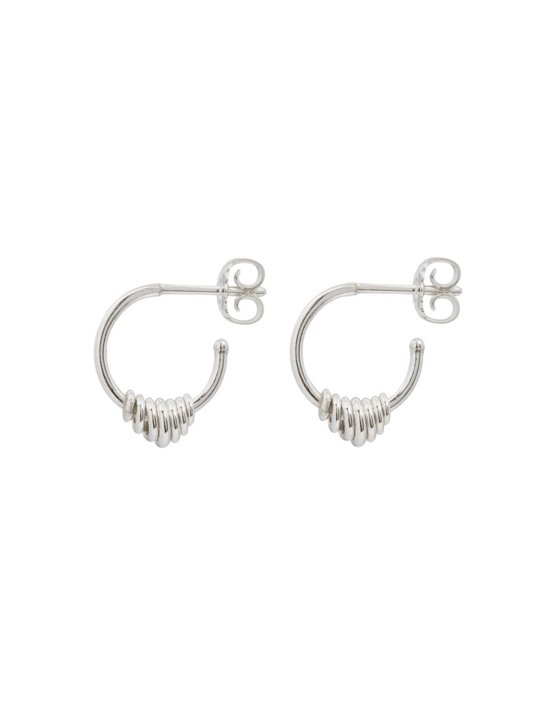 Wouters & Hendrix HOOP EARRINGS WITH A SERIES OF HOOPS