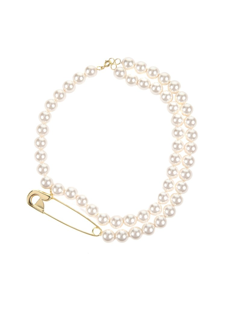 Wouters & Hendrix PEARL NECKLACE WITH SAFETY PIN