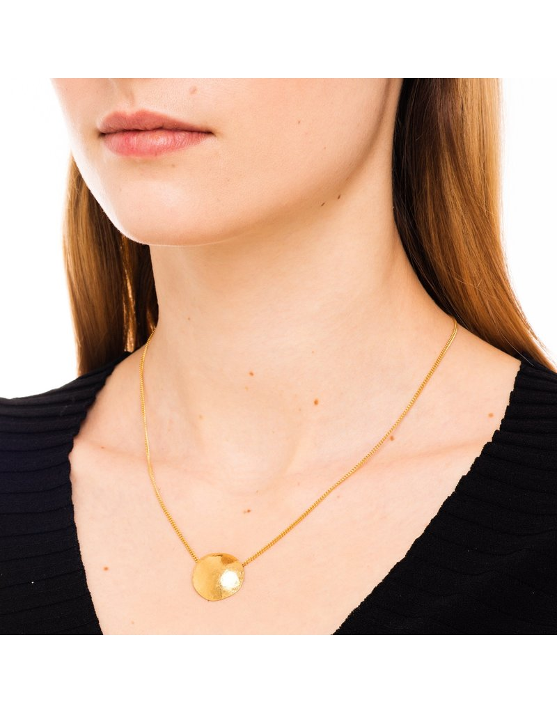 Wouters & Hendrix DELICATE NECKLACE WITH HAMMERED ELEMENT