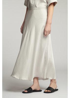 Zenggi Long Swan Skirt Eggshell