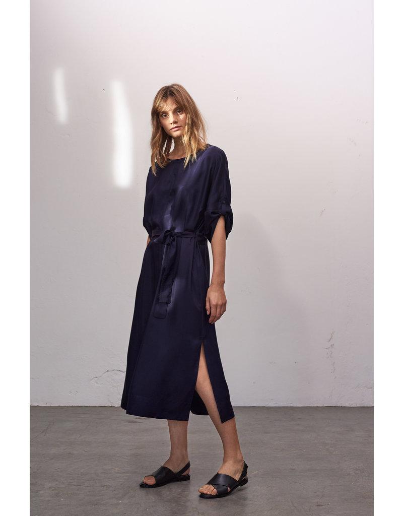 Zenggi Relaxed Wide Silky Dress Japan Blue