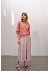 Zenggi Japanese Crepe Long Skirt Faded Rose